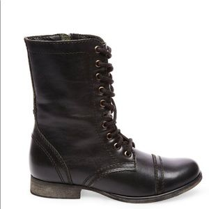 Steve Madden Troopa Combat Boot Black